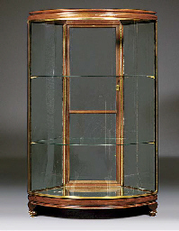An Edwardian glazed display ca