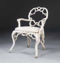 A Victorian cast iron chair
