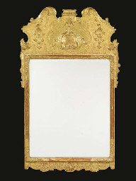 A German gilt gesso pier glass