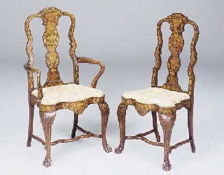 A set of eight Dutch mahogany