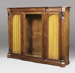 A mahogany and ebonized biblio