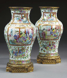 A pair of Cantonese lamps  (2