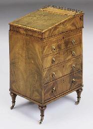 A Regency mahogany davenport o