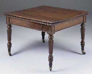 A Regency mahogany universal t