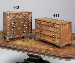 A George III mahogany miniatur
