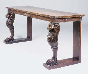 A mahogany console table, 19th