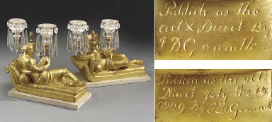 A pair of Regency gilt plaster
