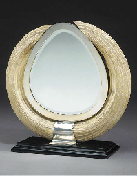 A hippopotamus tusk and silver