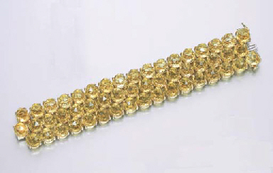 A LEMON CITRINE BRACELET, BY P