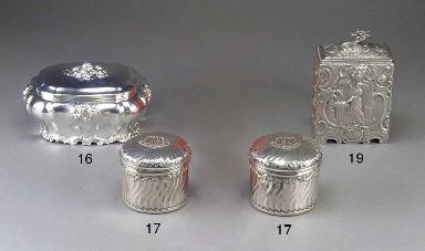 A Dutch Silver Sugar Box