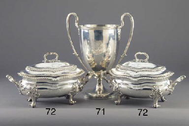 A Pair of George IV Silver Sau