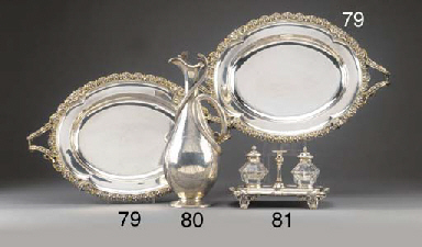 A Pair of Victorian Parcel-Gil