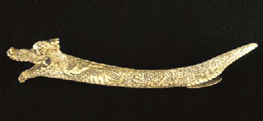 A JAPANESE STAG-ANTLER YATATE