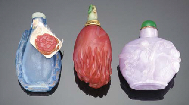 A CHALCEDONY SNUFF BOTTLE 19TH