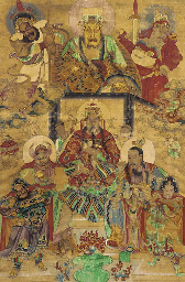A CHINESE HANGING SCROLL 18TH