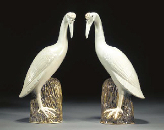 A PAIR OF CHINESE MODELS OF CR