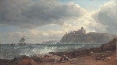 Tantallon Castle, coast of Had