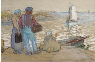 Homewards, fisherfolk in Britt