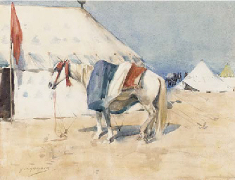 A soldiers camp, Morocco