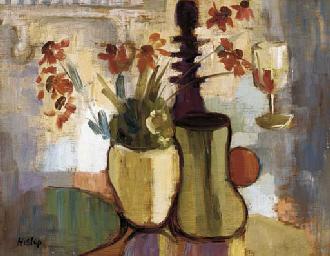 Still life with vase of flower