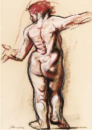 Female nude, rear view