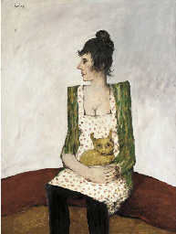 Woman with lap-dog