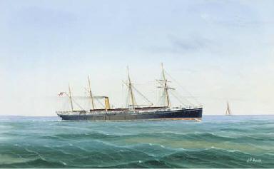 A steamship