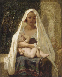 Italian woman and child