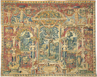AN ANTWERP 'GROTESQUES' TAPESTRY