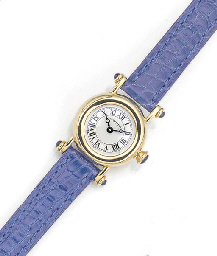 CARTIER, A LADY'S 18ct. GOLD QUARTZ WRISTWATCH signed Cartier, circa 1990.