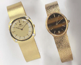 TWO 18K GOLD WRISTWATCHES WITH BRACELETS