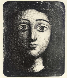 Head of Young Girl: Six States (M. 9; see B. 393)