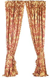 alfa img showing red and gold damask curtains