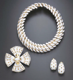 A SUITE OF ENAMEL JEWELRY, BY DAVID WEBB