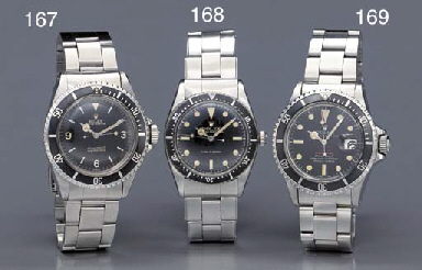 Rolex. A stainless steel self-winding water-resistant wristwatch with sweep center seconds and bracelet