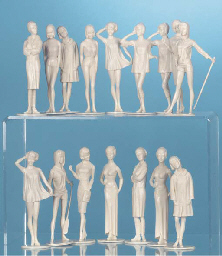 Two sets of Campus Cuties , each comprising eight plastic female figures in...