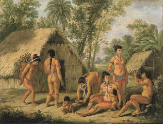 a family of charaibes in the island of st. vincent