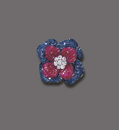 A DIAMOND, RUBY AND SAPPHIRE B