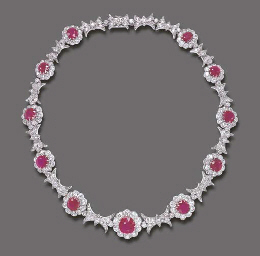 AN EXQUISITE ANTIQUE RUBY AND