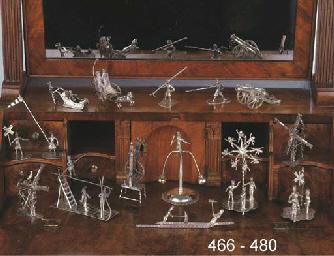 A Dutch silver miniature mill