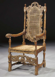 A Dutch Colonial teak armchair