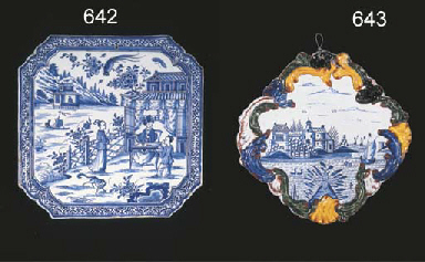 A Dutch Delft blue and white s