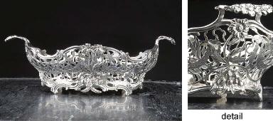 A fine Dutch silver breadbaske