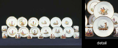 An Amstel porcelain series of