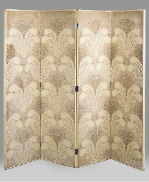 A LACQUERED GESSO SCREEN