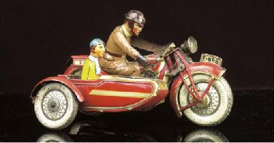 Tinplate clockwork Motorcycles