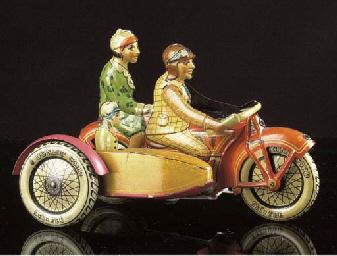 A Tipp & Co clockwork Motorcyc