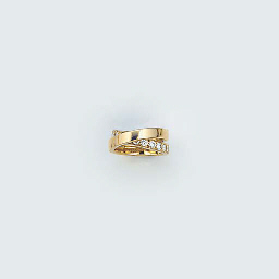 A Cartier gold and diamond cro