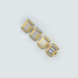 A pair of two colour cufflinks