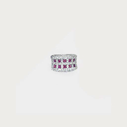 A ruby and diamond band ring,